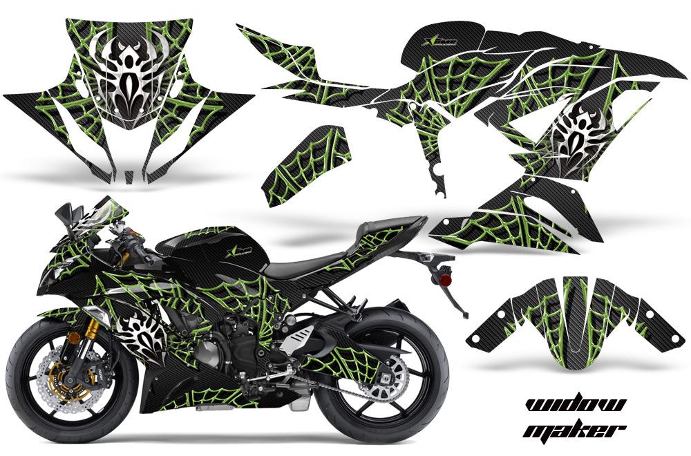 kawasaki ninja 636 zx6 r ninja sport bike graphic kit 2013 2016. Black Bedroom Furniture Sets. Home Design Ideas