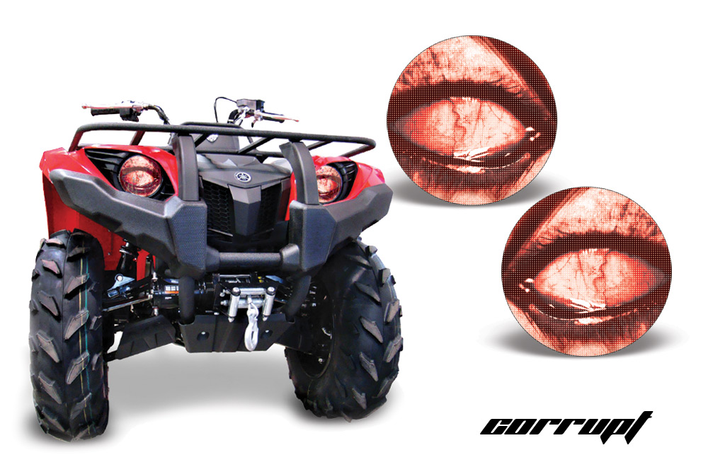 Yamaha Grizzly 660 >> Head Light Eye Graphics for Yamaha Grizzly 660/450/400/350/125 Many Designs to Choose! - FREE ...