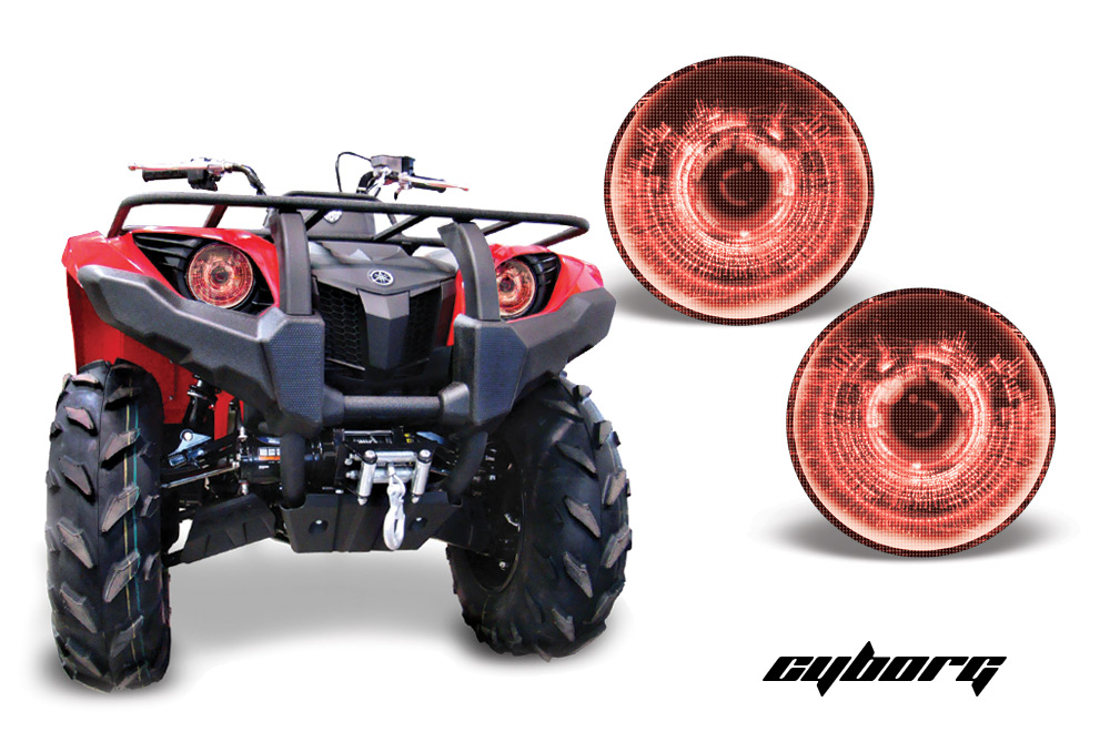 Yamaha Grizzly 450 >> Head Light Eye Graphics for Yamaha Grizzly 660/450/400/350/125 Many Designs to Choose! - FREE ...