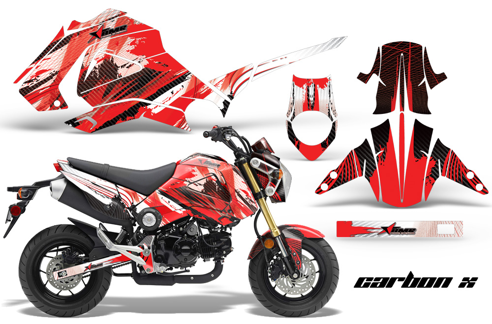 Honda grom 125 graphics dirt bike decals honda grom for Honda grom scrambler kit