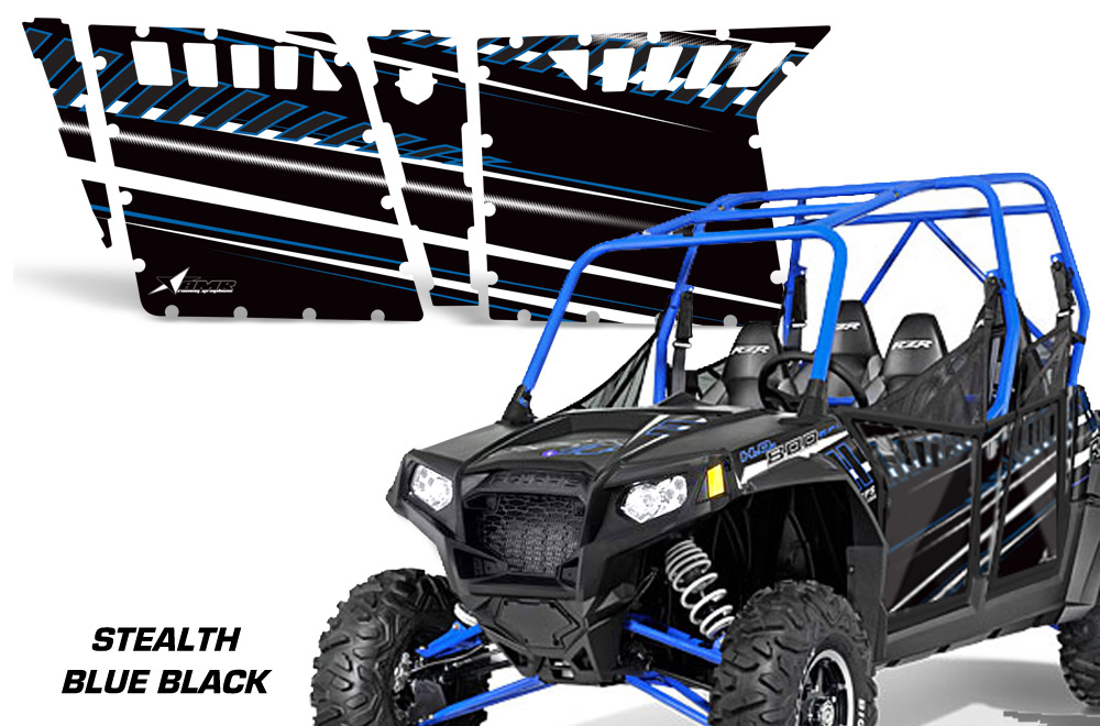 AMR Racing Door Graphics Kit for Polaris RZR4 800, 2011,2012,2013 ...