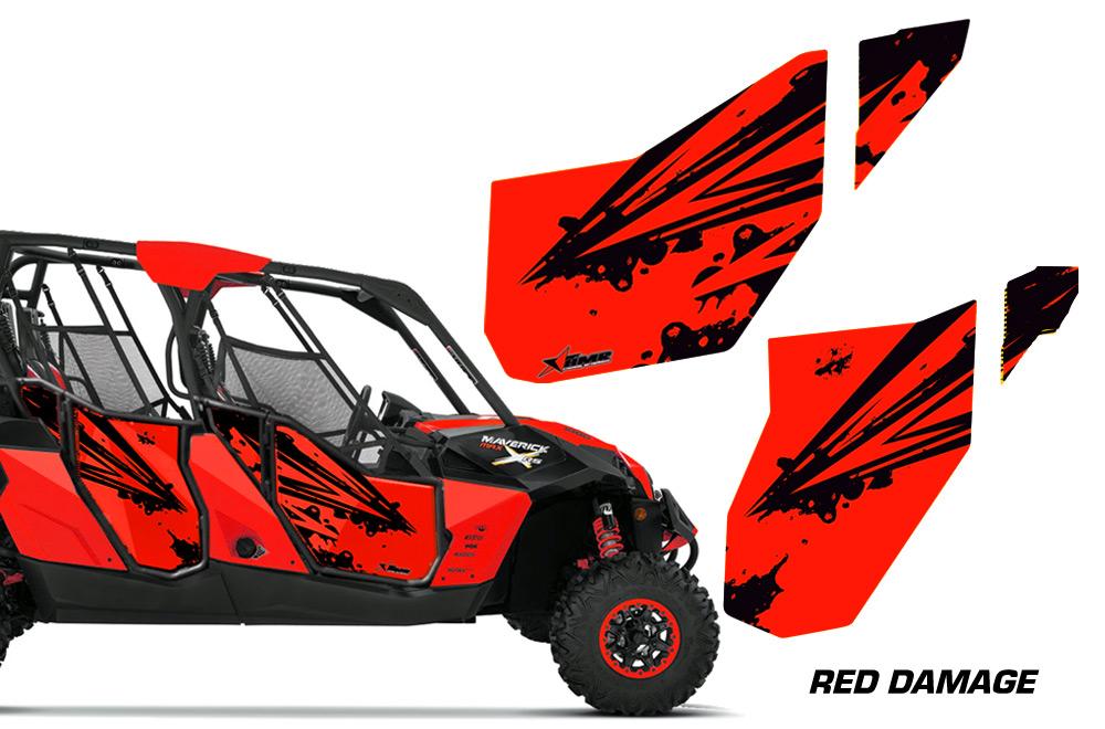 amr racing door graphics kit for can am maverick utv 4 door model