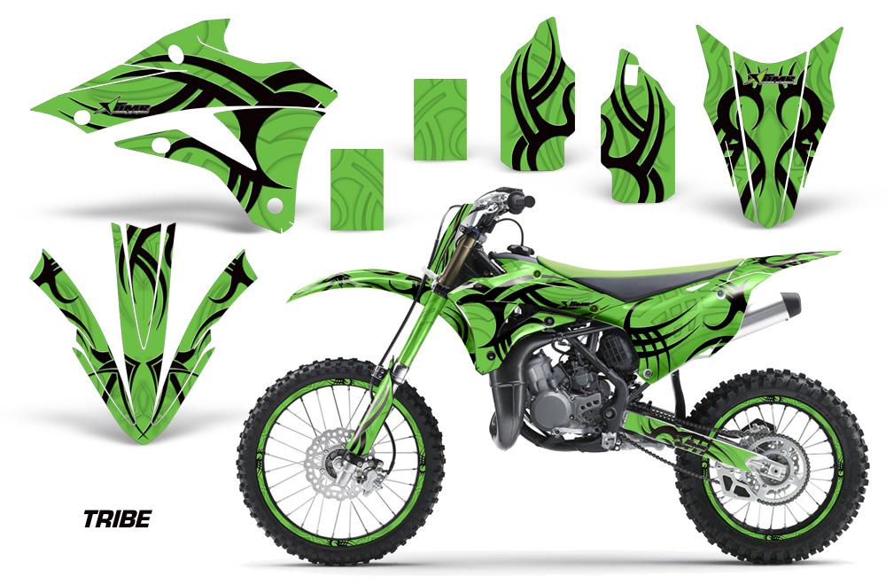 2001-2013 KX 85 100 graphics kit Kawasaki KX85 KX100 #2001 Red