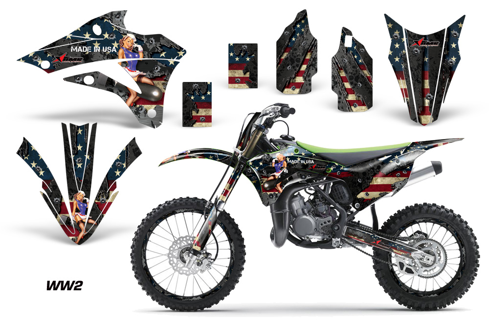 Kawasaki Motocross Dirt Bike Graphic Kit Kx85100 2014 2015 536 on yamaha golf cart graphics