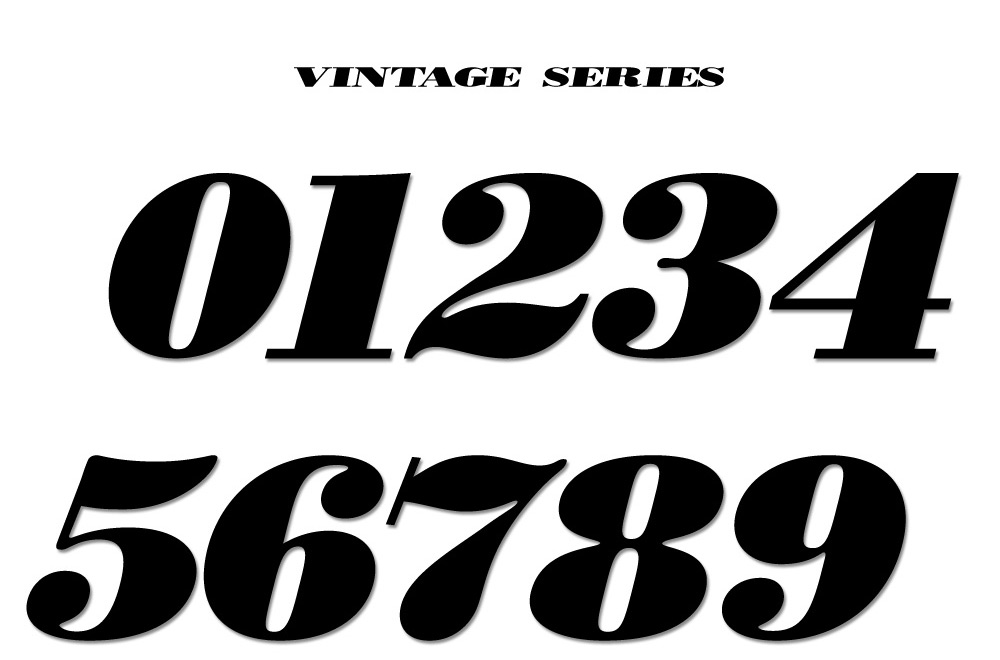 Number sets - Vintage and Factory styles available - Packs ...