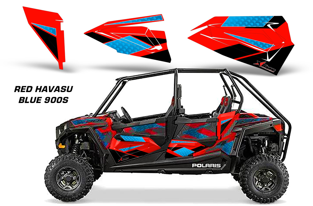 Amr Racing Lower Half Door Graphics Kit For Polaris Rzr4