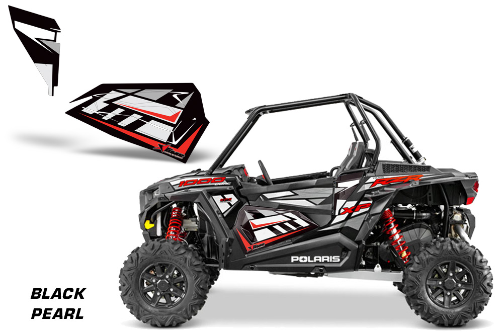 Amr Racing Lower Half Door Graphics Kit For Polaris Rzr2