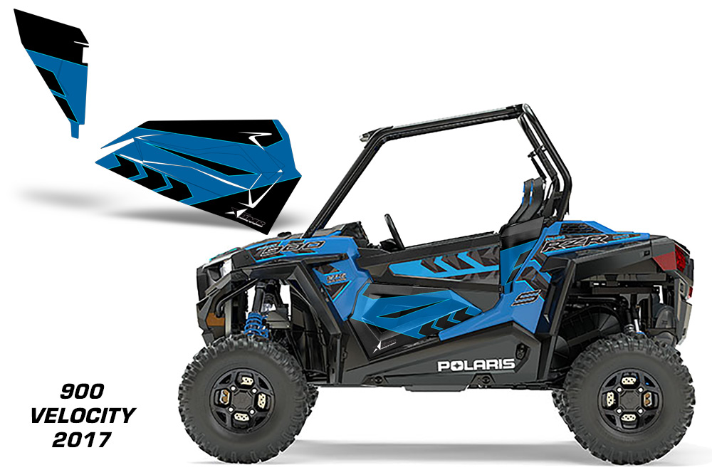Amr Racing Lower Half Door Graphics Kit For Polaris Rzr