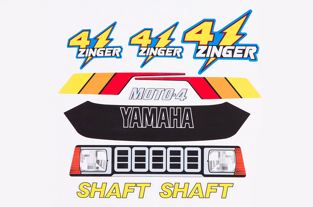 Yamaha yf 60 4 zinger graphic kit 1986 for Yamaha replacement decals