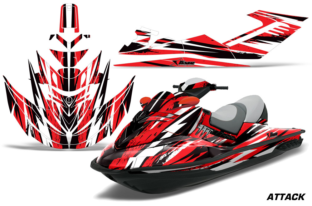 Sea Doo Rxt Sitdown Jet Ski Graphic Wrap Kit 2005 2009 569 on yamaha golf cart graphics