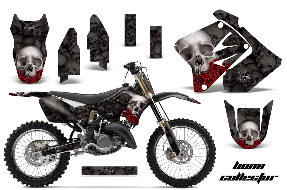 Suzuki Rm 125250 Dirt Bikes Graphic Kit 2001 2009 581 on jet black car with carbon fiber