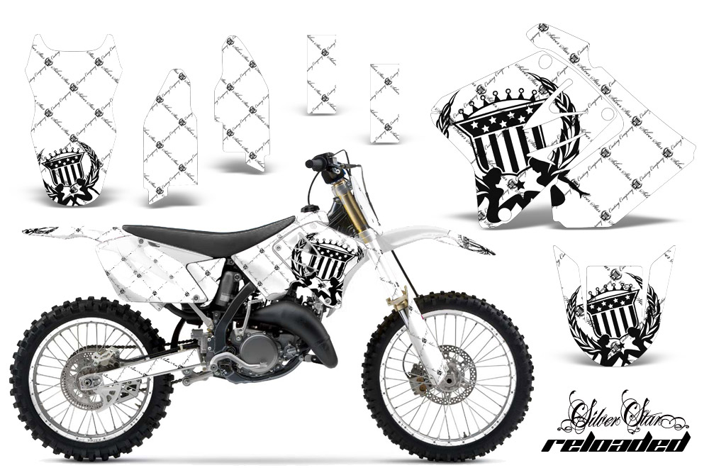 suzuki rm 125  250 dirt bikes graphic kit 2001