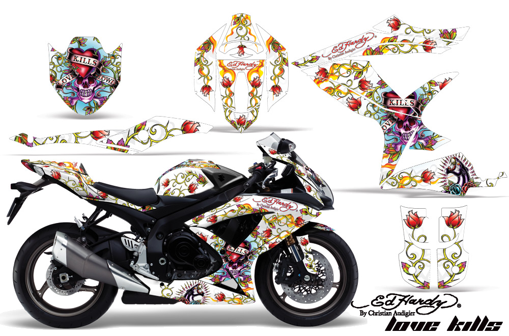 2008 2010 Suzuki Gsx R600 R750 Street Bike Graphic Decal