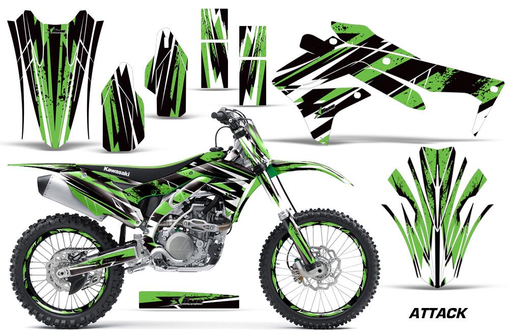 2016 kx450f graphics kit. kawasaki motocross graphic sticker decal