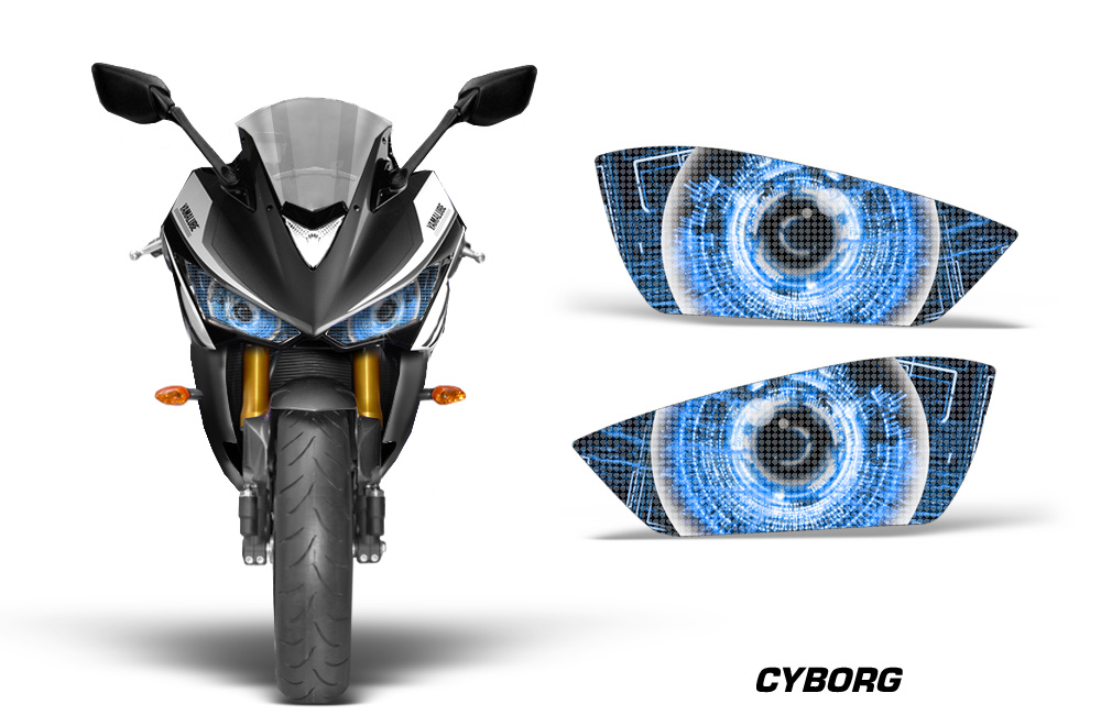 yamaha r3 2015 head light eye graphic kit many designs available eclipse corrupt nightmare zipped