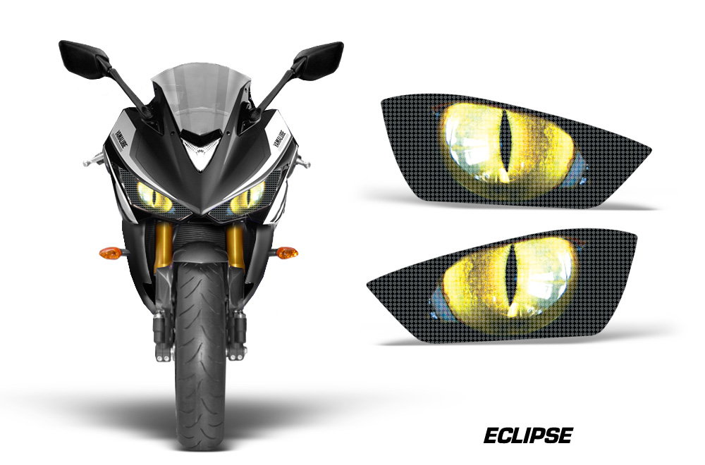 Yamaha R3 2015 Head Light Eye Graphic Kit Many Designs