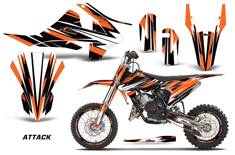 Ktm motocross graphic decal sticker kit ktm mx stickers for sx65 2016 2017 2018
