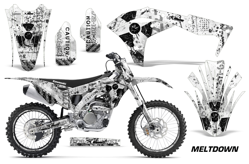 2017-2018 kxf250 graphics kit  kawasaki motocross graphic sticker decal kit