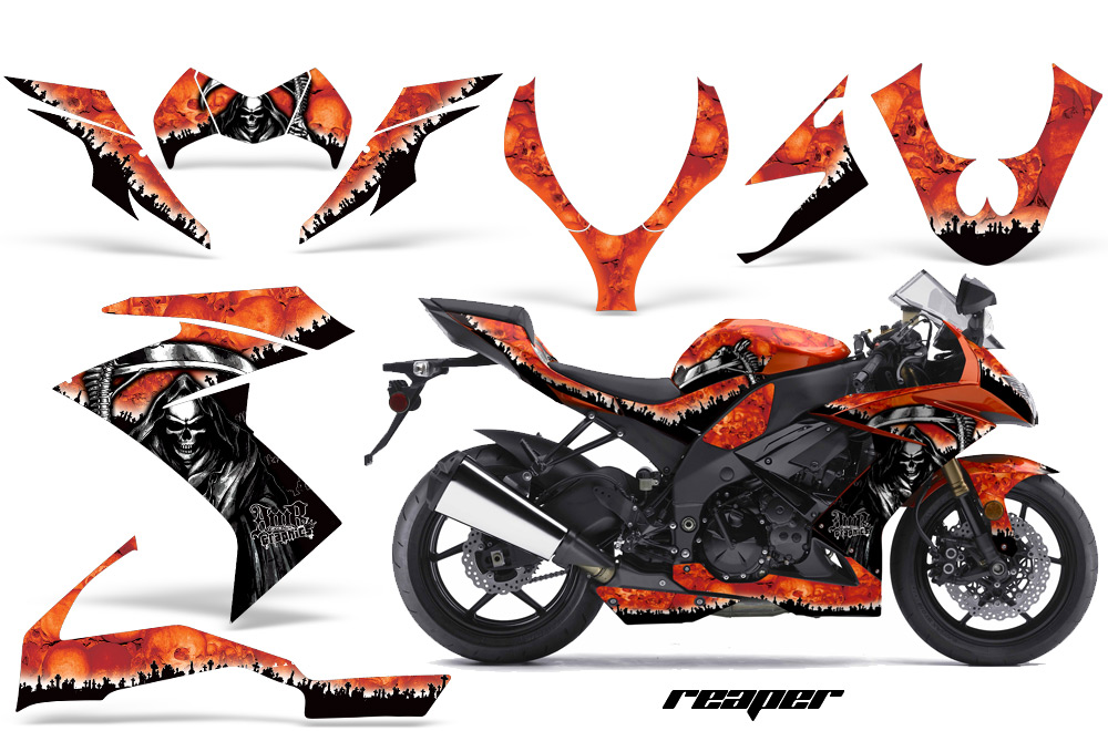 Car stickers honda - 2008 2009 2010 Kawasaki Zx10 Ninja Street Bike Graphic