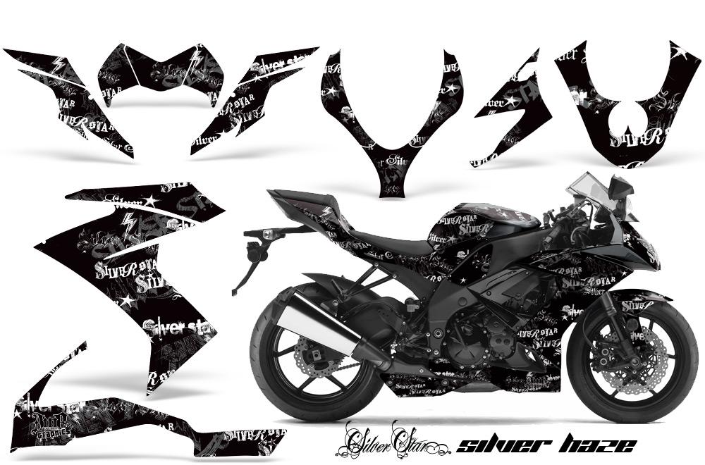 2008 2009 2010 kawasaki zx10 ninja street bike graphic decal sticker kit