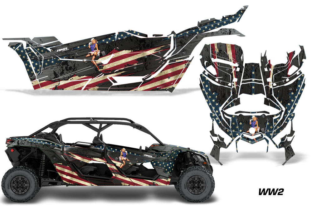 Honda Jet Ski >> Can Am Maverick Graphics! X3 X DS X RS UTV Side x Side Graphics Decal Kit X rs - 2016