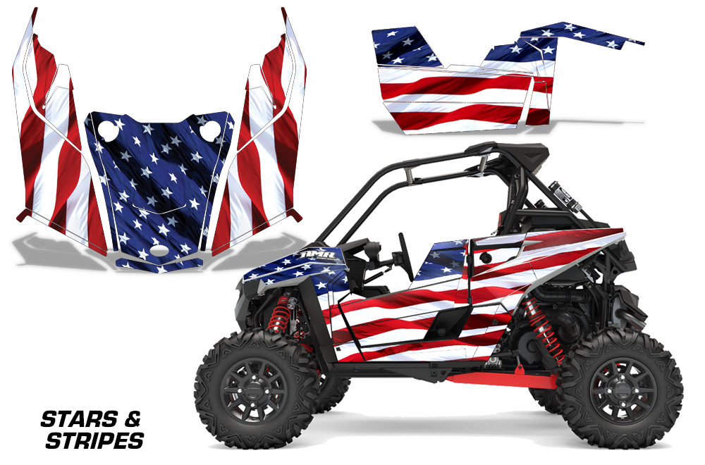 Yamaha Grizzly 660 2002-2008 ATV All Terrain Vehicle AMR Racing Graphic Kit Decal FIRESTORM RED