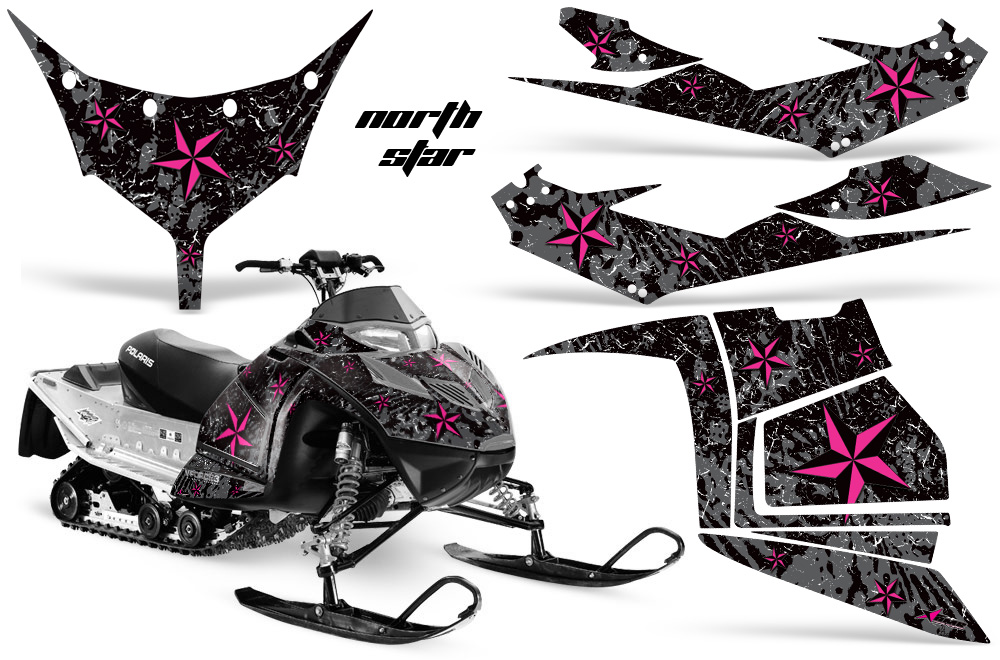 polaris iq race 600 snowmobile sled graphic decal sticker kit
