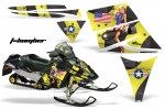 Ski Doo Rev Sled Snowmobile Graphics Wrap Kit 2004-2012