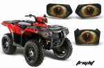 Head Light Eye Graphics for 2011-2012 Polaris Sportsman 400/550/800/500, 3 Piece. 6 Designs to Choose!