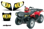 Head Light Eye Graphics for 2005-2010 Polaris Sportsman 500/800, 3 Piece. 6 Designs to Choose! -  FREE SHIPPING