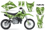 Kawasaki Motocross Dirt Bike Graphic Kit KLX110 - 2010-2013