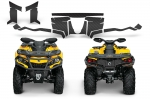Can-Am Outlander G2 Trunk & Front Bumper Carbon Fiber Graphics Kit