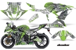 Kawasaki Ninja 636 ZX6-R Ninja Sport Bike Graphic Kit (2013-2016)