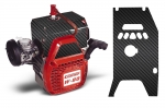 Comer 80 Engine Cover Kart Graphic - Black Carbon Fiber