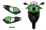 Head Light Eye Graphics for 2013-2014  Kawasaki Ninja ZX 6R, Many Designs to Choose from!
