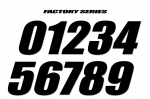 Number sets - Vintage and Factory styles available - Packs of 3 Numbers