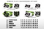 MX Number Plate Backgrounds
