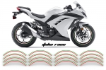 "17"" Inch Universal Street Bike Rim Trim Stickers Wheel Stripe Vinyl Decals"