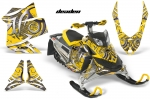 Ski Doo Rev XP Sled Snowmobile Graphic Wrap Kit 2008-2012