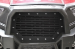 Custom Satin Black Mild Steel Grille for Polaris RZR 1000