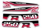 Honda TRX 250R Fourtrax OEM ATV Quad Graphic Kit 1986-1989